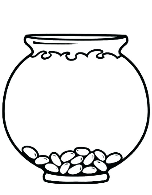 Bowl clipart colouring. Coloring empty fish page