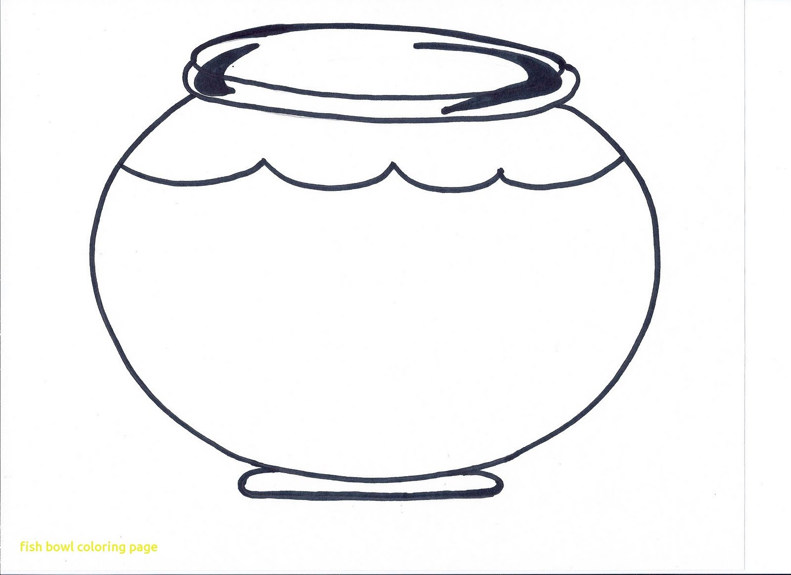 Fish Bowl Coloring Page coloring page & book for kids.   1163x1600