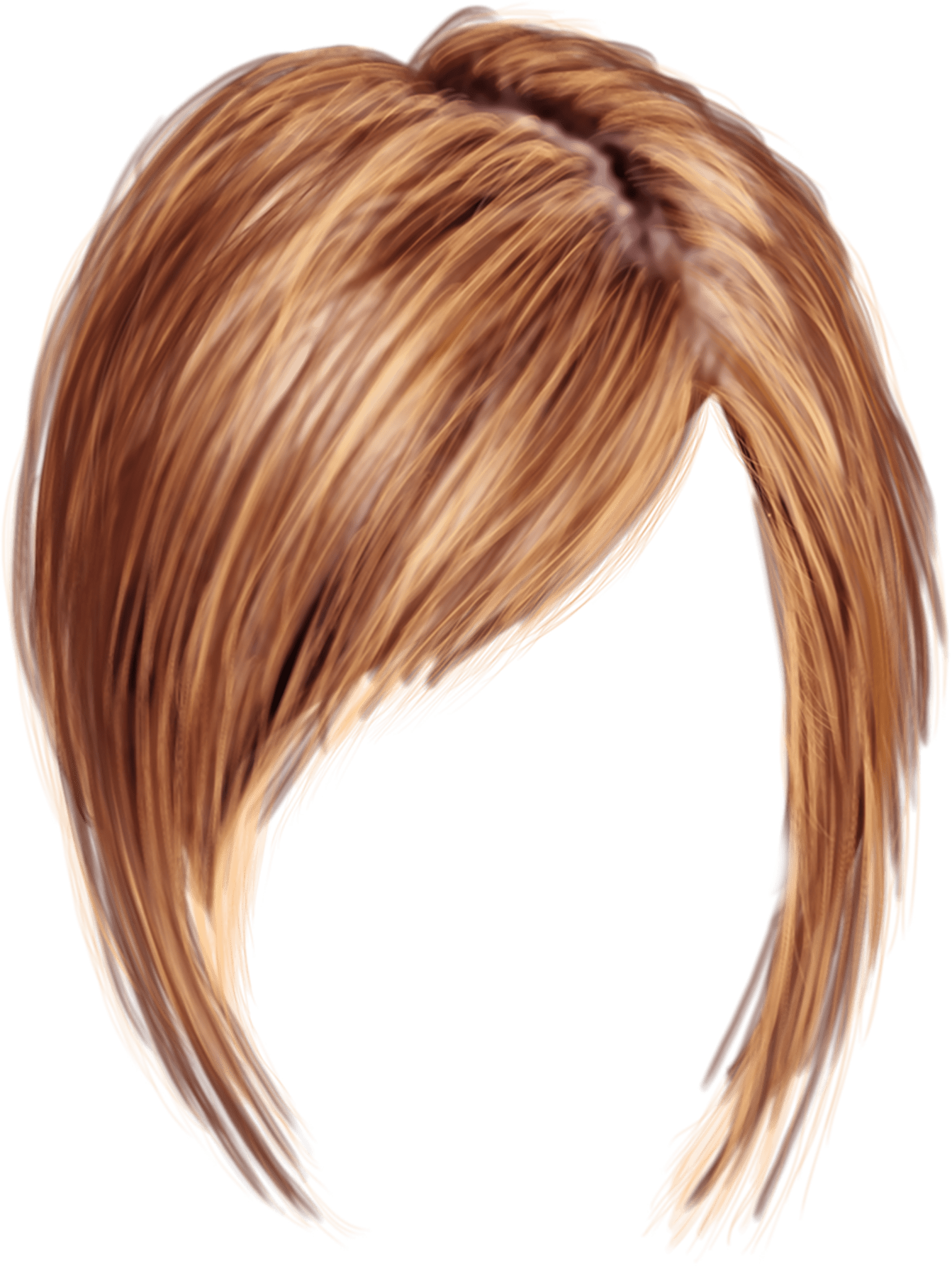 Bowl cut hair png. Transparent background short