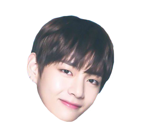 Bowl cut png. V head sticker bts
