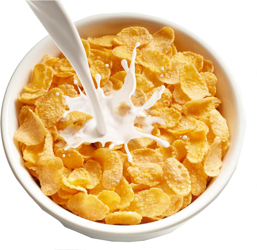 Transparent bowl cereal. Download hd and milk