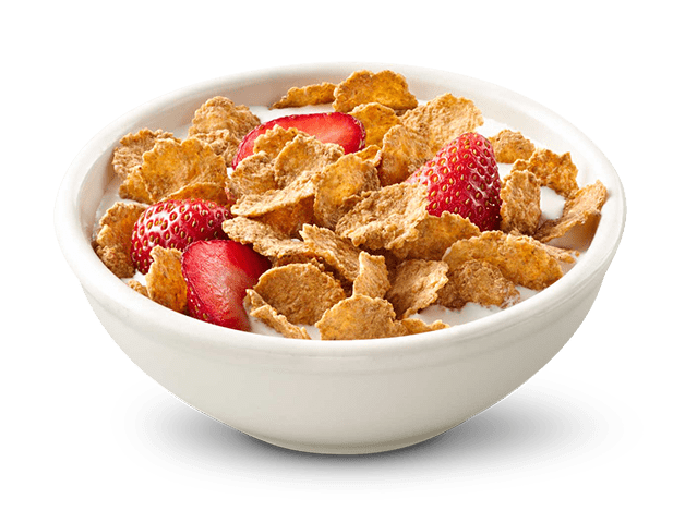 transparent bowl corn flakes
