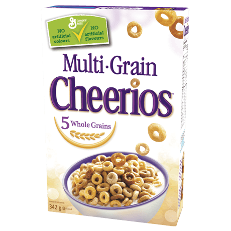 Transparent cereal multi. Cheerios toasted whole grain