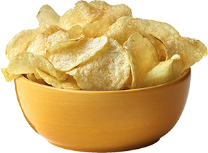 Bowl of chips png. One potato two kettle