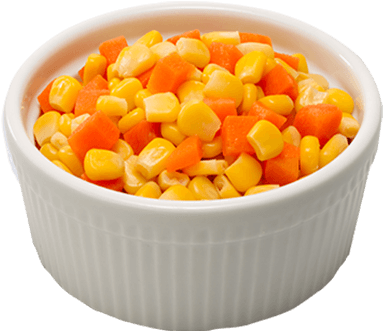 Carrots png bowl. Download corn and side