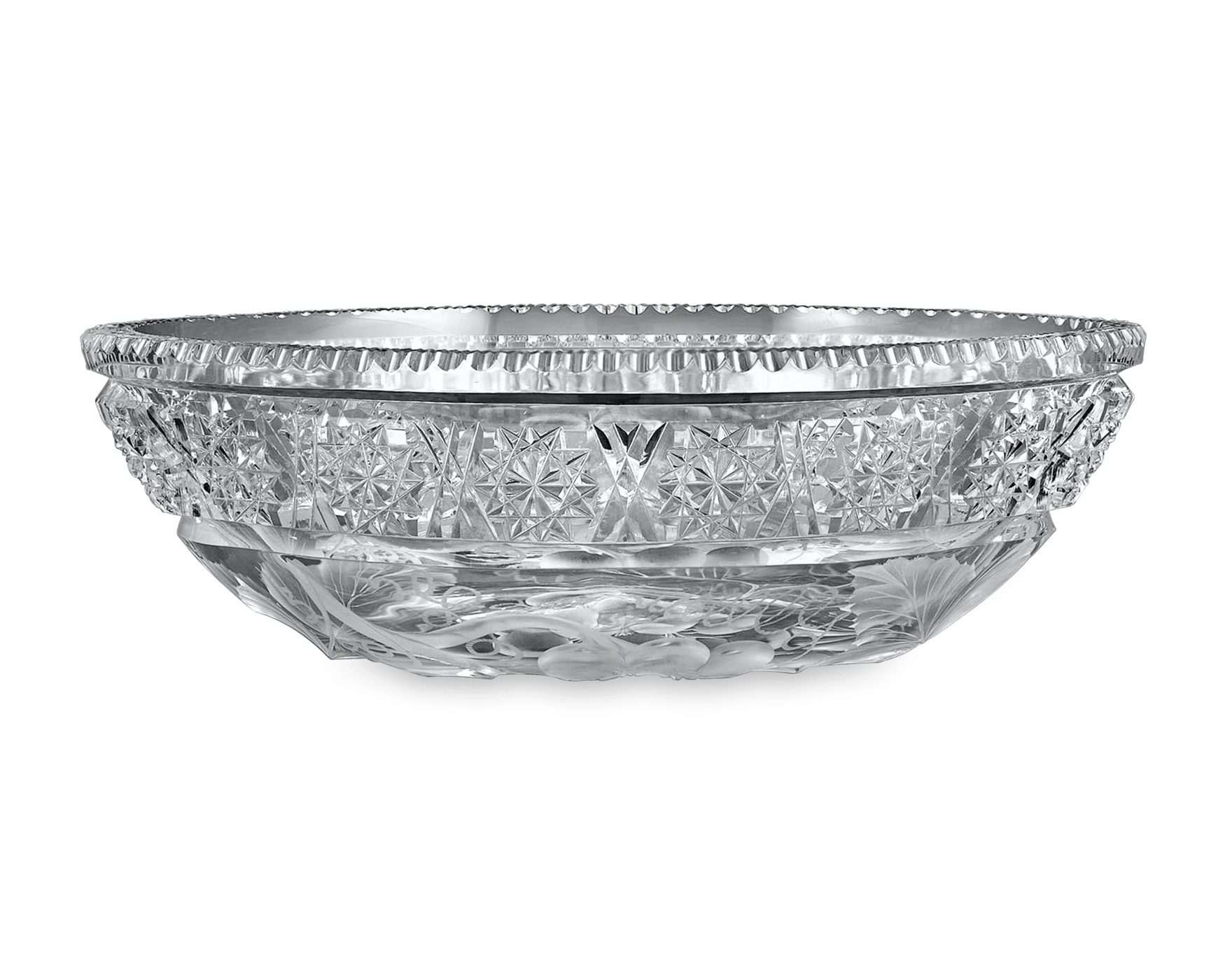 Bowl of punch png. Antique cut glass american