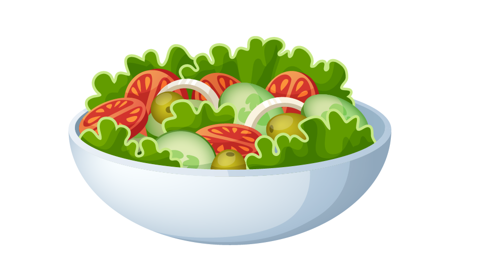 recipe vector salad