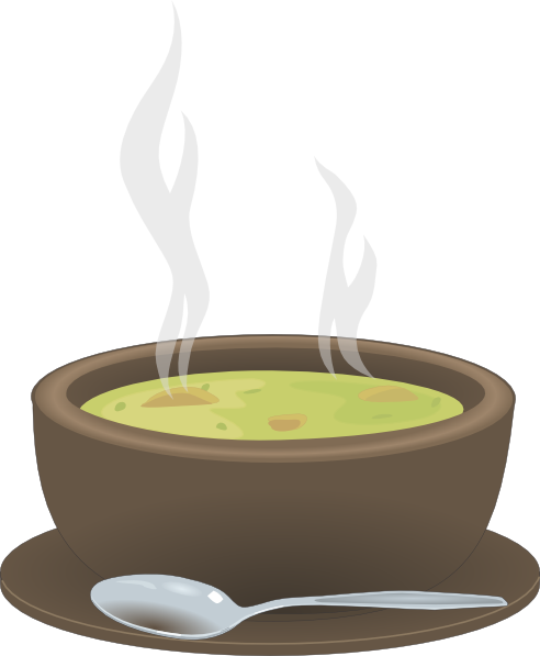 Hot soup png. Steaming bowl of clip