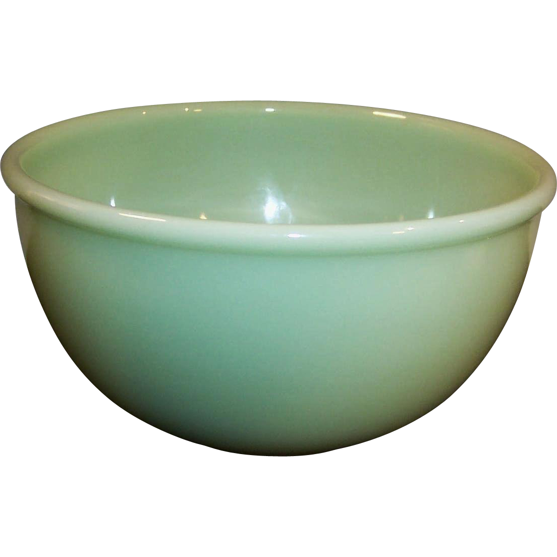 Clear transparent bowl. Marked fire king jade