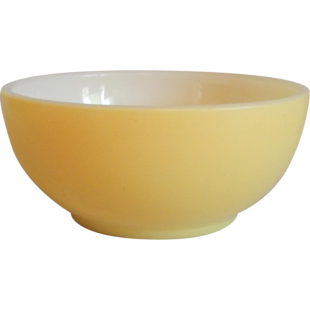 Bowl transparent background. Fire king yellow cereal