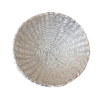 Clear transparent bowl. Handicraft silver plastic buy