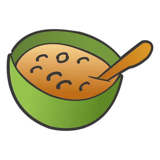 Bowl transparent cartoon. Soup in a png