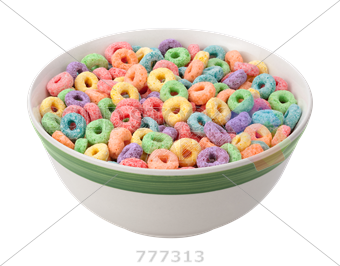 Bowl transparent cereal. Stock photo of ceramic