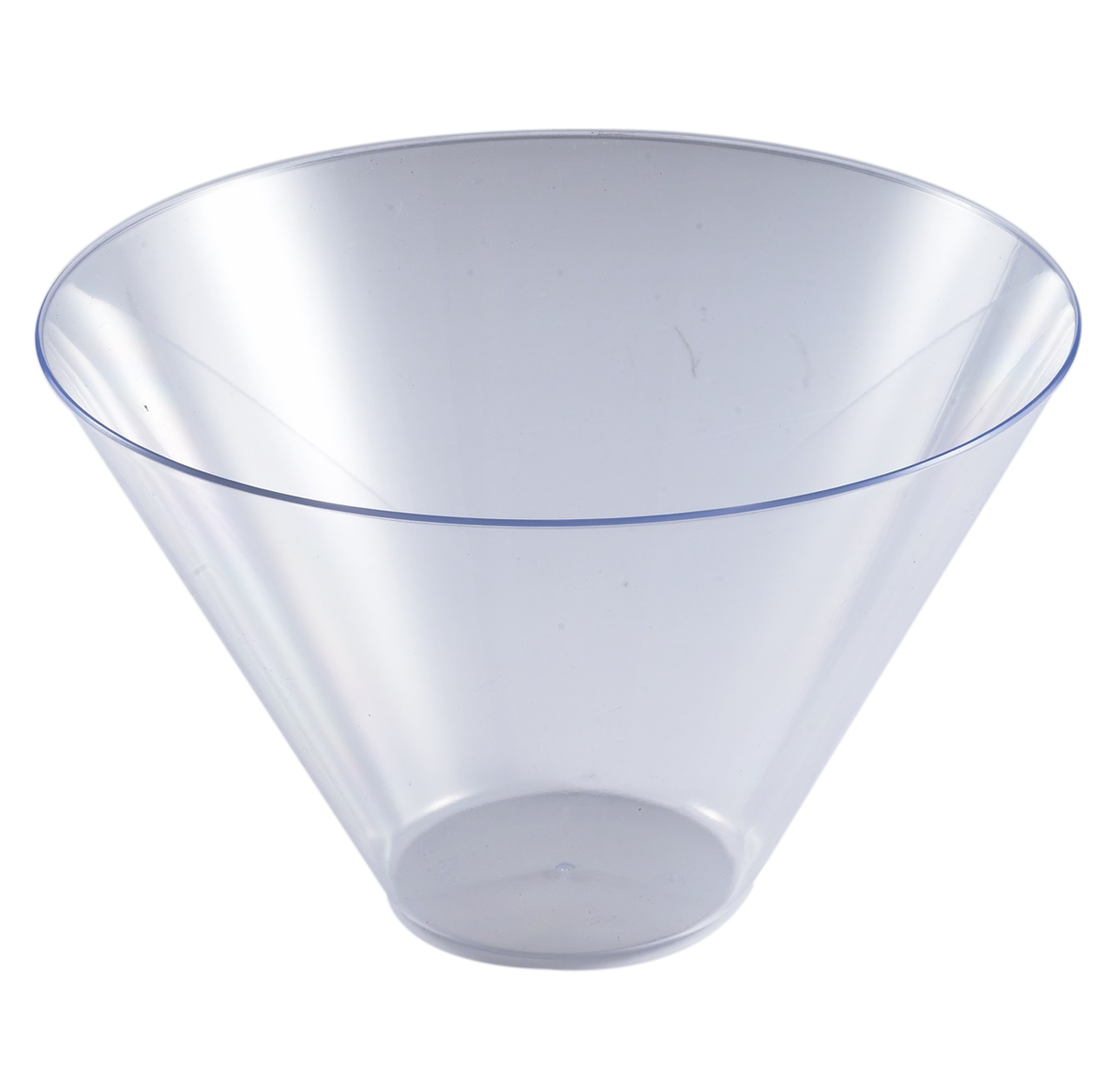 Clear transparent bowl. Oz round serving the