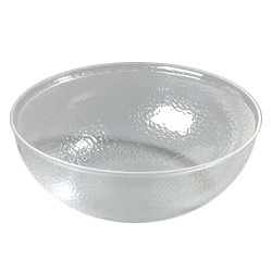 Clear transparent bowl. Carlisle sb round acrylic