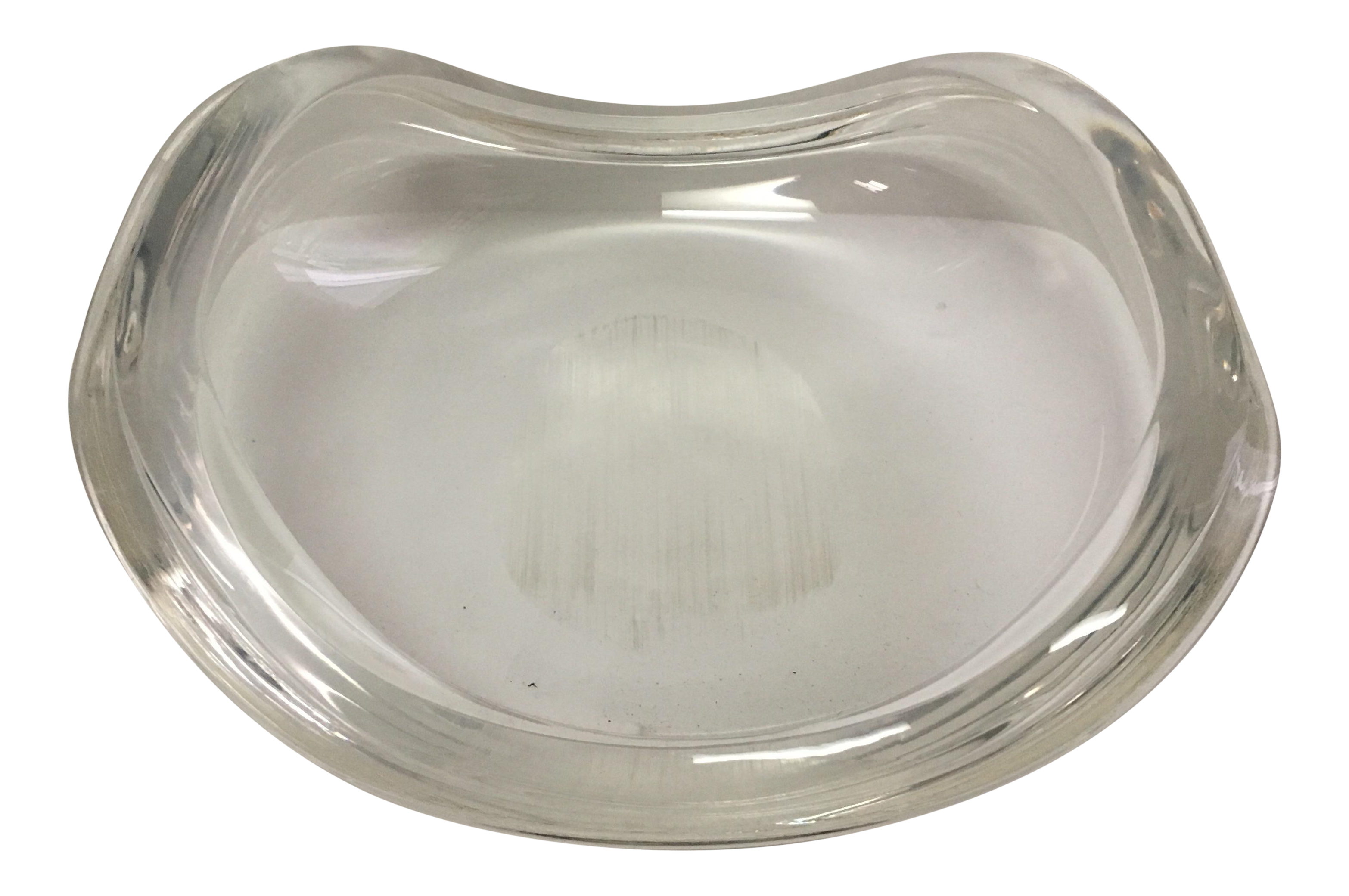 Bowl transparent clear acrylic. Lucite chairish
