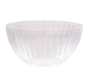 Bowl transparent clear acrylic. Roma crystal tableware made