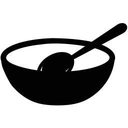 Transparent bowl cooking. Empty icon myiconfinder