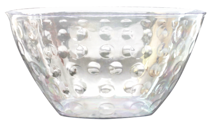 Transparent bowl clear. Elegant disposables serving large