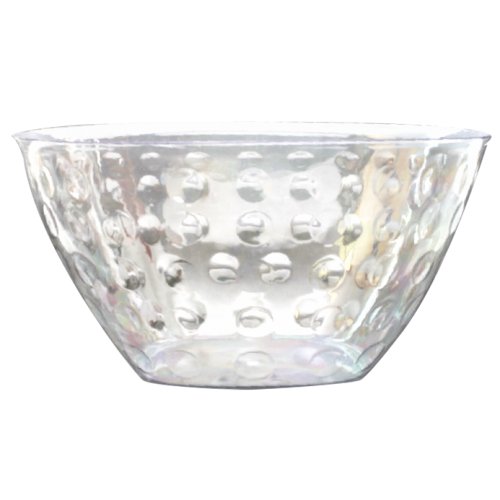 Clear transparent bowl. Elegant disposables serving large
