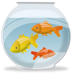 Transparent bowl gold fish. With png stickpng download
