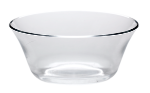 Bowl transparent glass. All for you lead