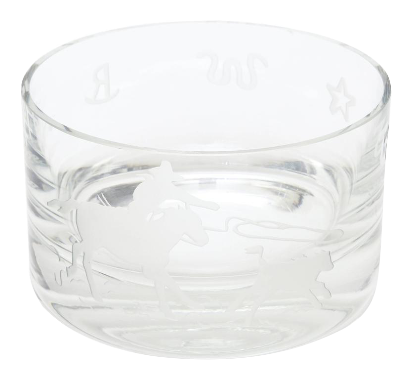 Bowl transparent glass. World class signed perry