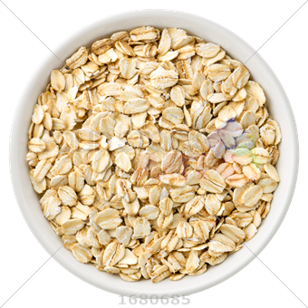 Transparent cereal oat. Stock photo of top