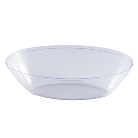Clear transparent bowl. Kaya collection plastic oval