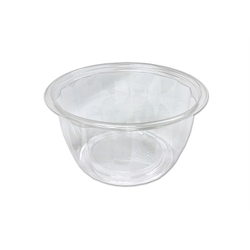 Clear transparent bowl. Plastic oz pet round