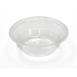 Clear transparent bowl. Plastic oz designer discus
