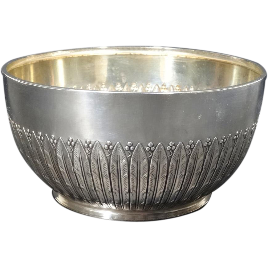 Bowl transparent silver. Danish by a