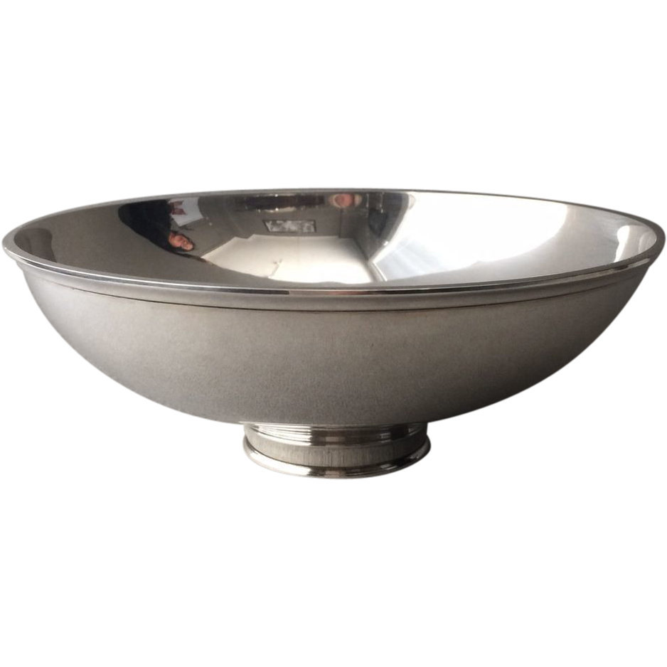 Bowl transparent silver. Georg jensen sterling no