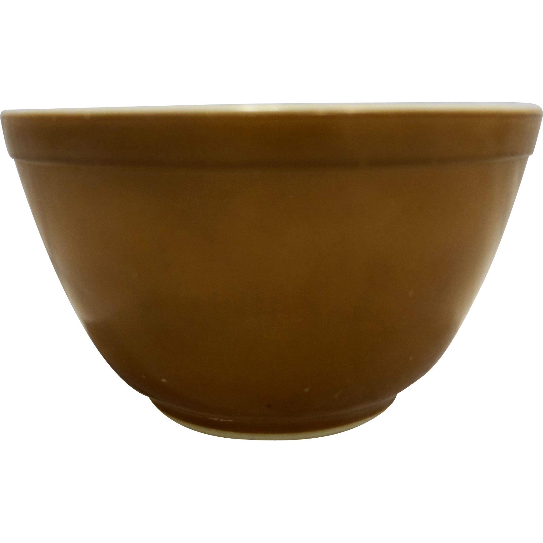 Bowl transparent small. Pyrex solid brown pt