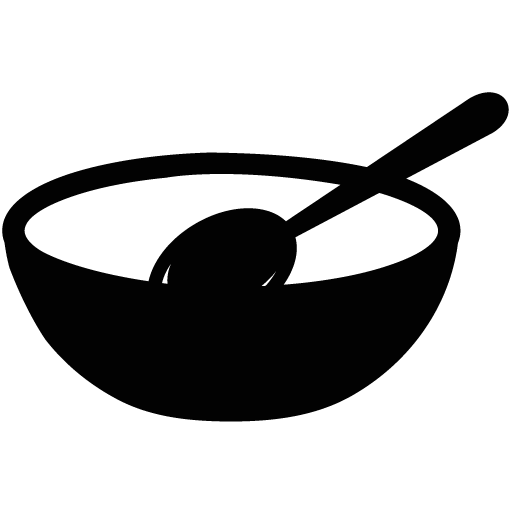 Bowl with spoon png. Empty icon myiconfinder