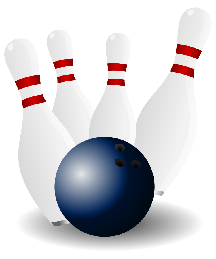 Pins vector design. Free picture of bowling
