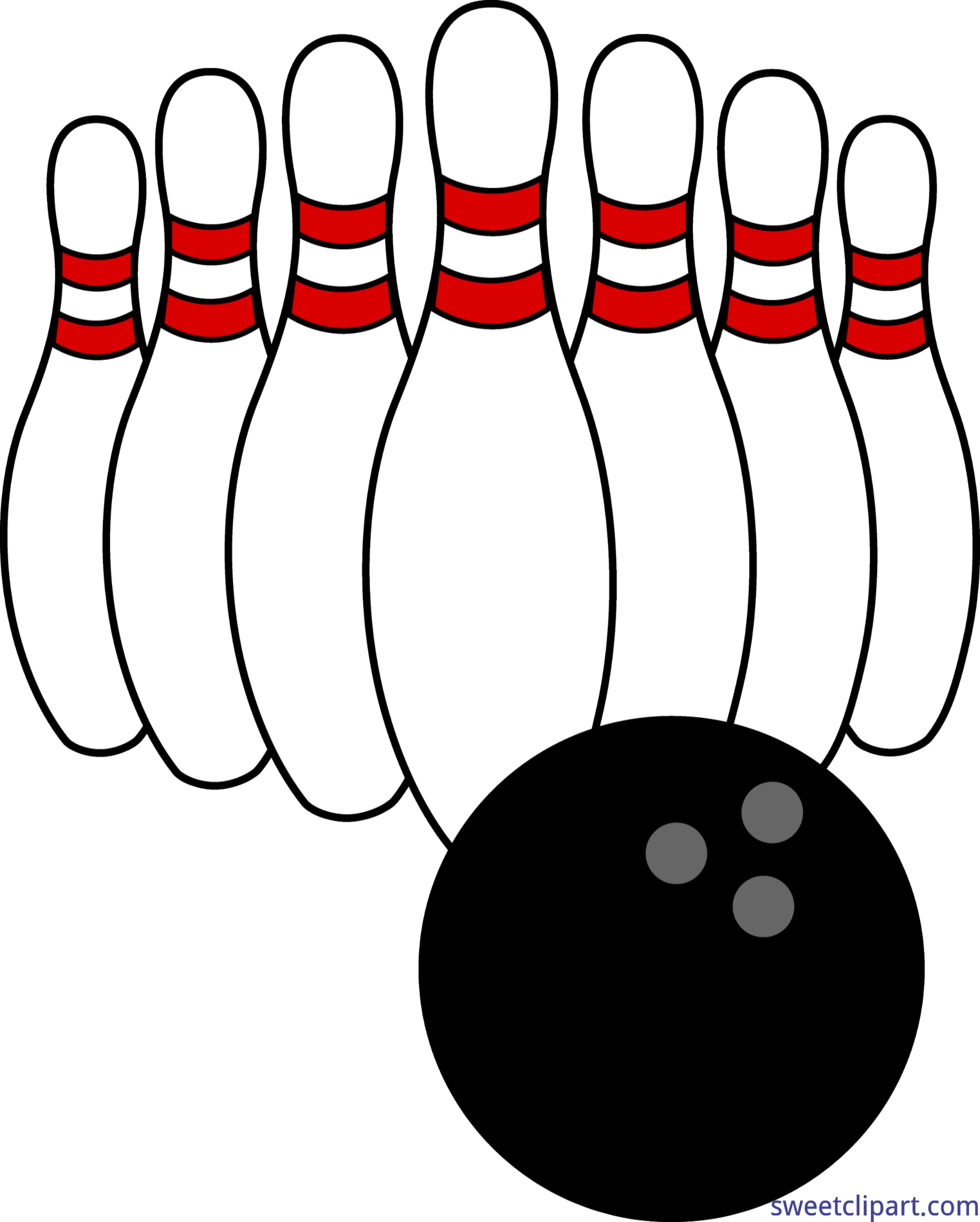 Bowling clip art png. Ball and pins sweet