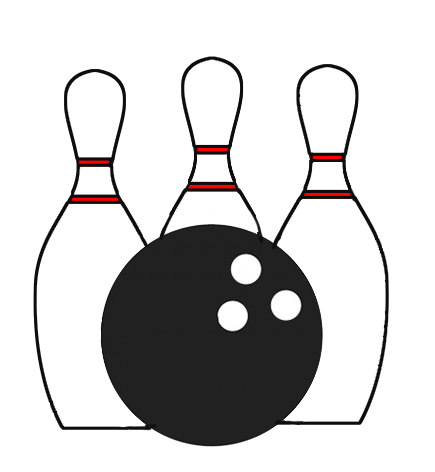 Pins drawing transparent. Bowling clipart icon background