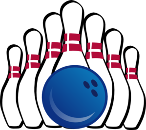 Pins vector two. Bowling ball and clip