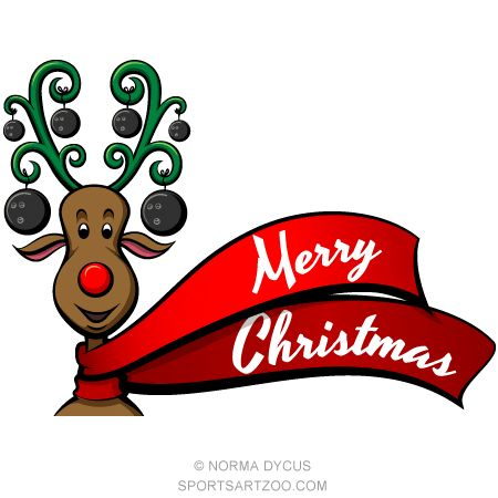 Bowling clipart reindeer. Best christmas images