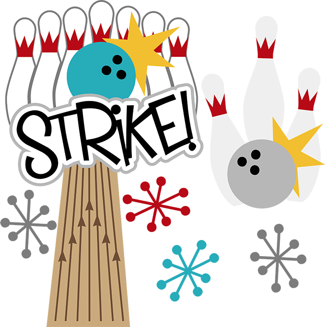Bowling clipart svg. Strike scrapbook files for
