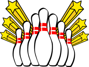 Bowling clipart. Alley group pins clip