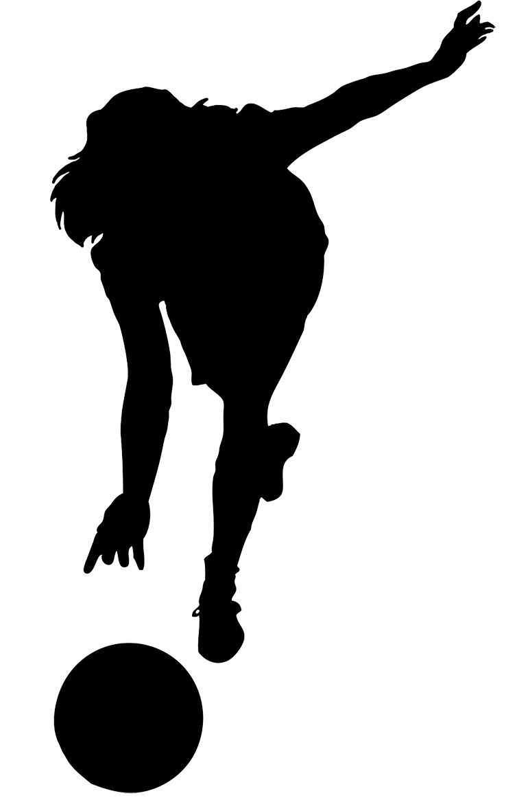 Bowling silhouette png. Clipart free