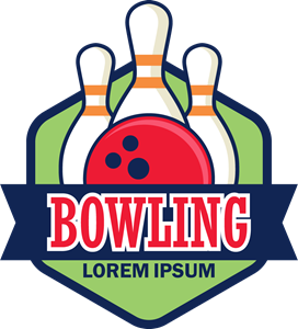 Vector tickets bowling. Logo eps free download