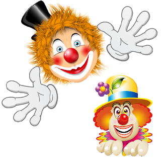 Bows clipart clown. Funny party clowns images