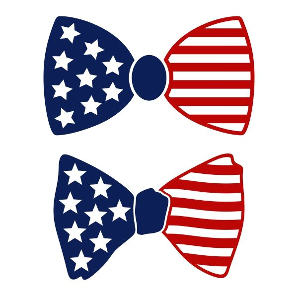 Bows clipart file. Us flag bow tie