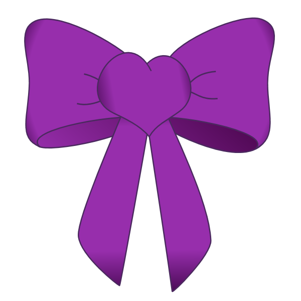purple bow png