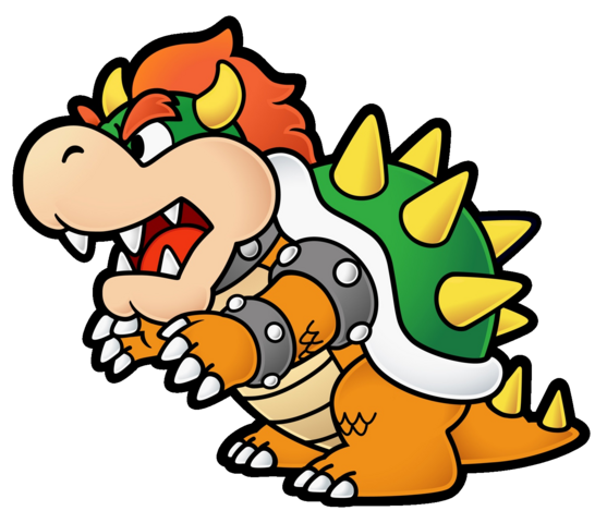 Bowser head png. Paper mario the thousand