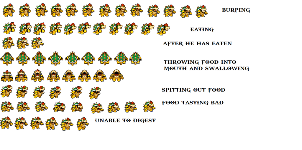 Bowser Sprites Transparent Png Clipart Free Download Ywd
