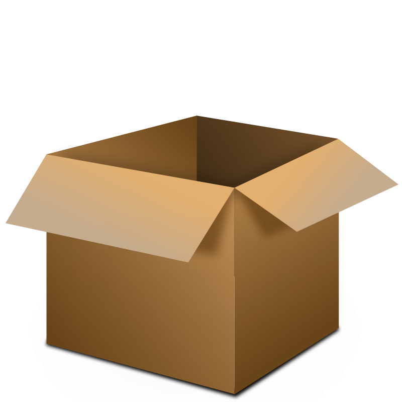 Packaging vector drawing. Open box clipart